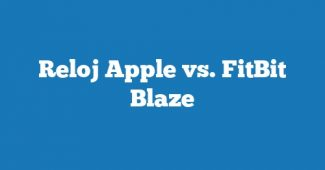 Reloj Apple vs. FitBit Blaze