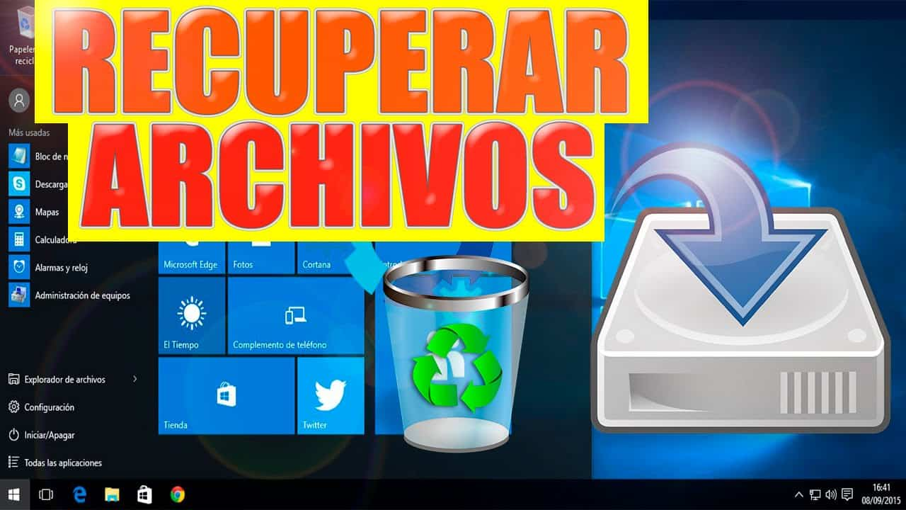 Recuperar archivos en Windows